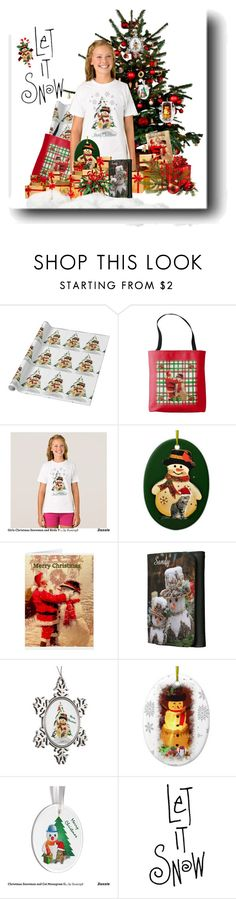 """""""Snowman Fashion for Girls"""" by sgolis ❤ liked on Polyvore featuring Girls, snowman, zazzle, christmasshirt and zazzleshirt"""