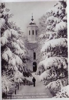 Winter (Belgrade,Serbia--vintage photo)