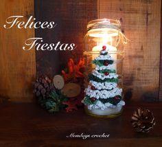 Porta velas con abeto navideño. Tutorial