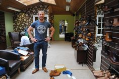 We were delighted to welcome Ulster Rugby legend Stephen Ferris into our showroom, Stephen purchased a pair of Barker McClean's in Cedar Calf/Blue Suede whilst in.  http://www.robinsonsshoes.com/barker-mcclean.html