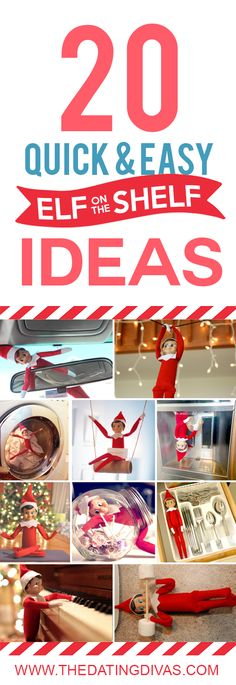 QUICK and EASY Elf on the Shelf Ideas- THESE ONLY TAKE 2 MINUTES!