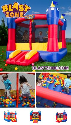 Small enough for indoor play, big enough for a party! Purchasing can pay for itself in as little as one use as compared to renting. Browse an extensive selection of durable designs that kids love at www.BlastZone.com #MagicCastle