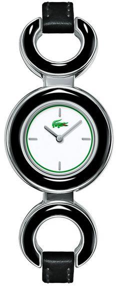 Lacoste Female Porthole Watch  2000442 Black Analog Sale price. $107.95