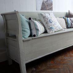 Wooden sofa, Gustavian grey SOLD