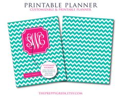 2013-2014 Printable Planner - Monthly Calendars - Weekly Calendars - Notes Page - Password Log - Panner, Organizer, Printable