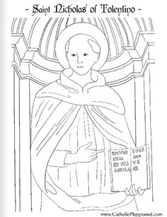 Saint Nicholas of Tolentino Catholic coloring page: Feast day is September 10th