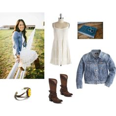 Joanna Gaines: Country Boho by lauraloewen1221 on Polyvore featuring mode, J.Crew, Steven by Steve Madden, Carolyn Pollack/Relios, rustic and country