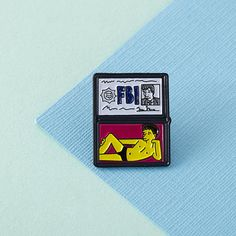 FBI Mulder Enamel Pin // lapel pins simpsons simpsons by Punkypins