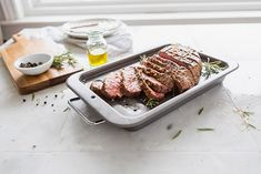 Restaurant-quality London Broil in the comfort of your home. This quick prep technique creates a succulent steak dinner that the whole family will love. Homemade Garlic Butter, Garlic Herb Butter, Fun Cooking, Cooking Recipes, London Broil Marinade, Cooking London Broil, Dinner Sides, Fresh Herbs, Eat
