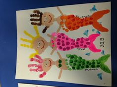 Footprint/handprint mermaids!