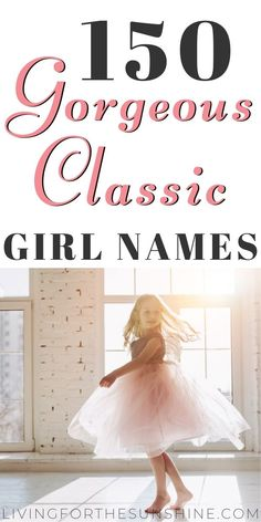 This list of beautiful classic names for girls will help you find the perfect elegant name for your new baby girl. #names #babynames #girlnames #babies #pregnancy Long Girl Names, Girly Girl Names, Unique Girl Names, Baby Girl Names, Vintage Baby Names, Cute Baby Names, Pretty Names, Icelandic Girl Names, Traditional Girl Names