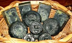 This is my adaptation of African Black Soap for the home soaper. It is not true African Black Soap—but may provide comparable skin benefits. Charcoal Recipe, Charcoal Soap, Activated Charcoal, African Soap, African Black Soap, Homemade Beauty Products, Pure Products, Homemade Cosmetics, Homemade Black