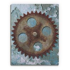 "Click Wall Art Lonely Gear Graphic Art on Plaque Size: 14"" H x 11"" W x 1"" D"