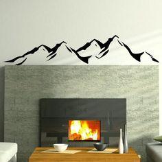 Mountains Removable Vinyl Decal Art Decor Wall Sticker Art Wall Decal RA48 | eBay