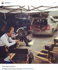 Grant Gustin - filming The Flash Season 2