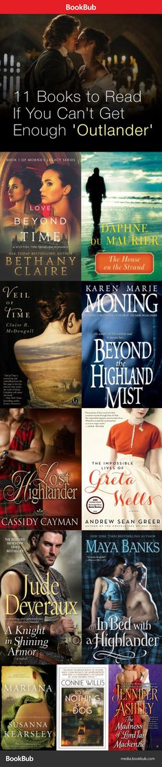Books for Outlander fans to devour! Featuring time travel, strong heroines, the Scottish highlands, and more #Scottishhighlands