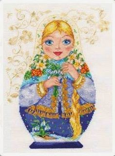 """Вышивалка: Скачать схему вышивки """"Алиса"""" 6-04 """"Матрешки. Весн..."""