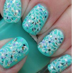40 of the Best Botanical Nail Art for Women - Fashion 2D #nailart
