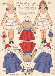 NORA AND TILLY | TWINS'   Woman and Home Magazine, UK 1950s to mid 60s.