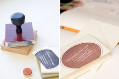 A stamp to make your own business cards.