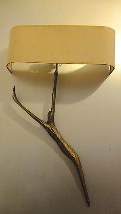 Felix Agostini; Cast Bronze 'Ariel' Wall Light, c1960.