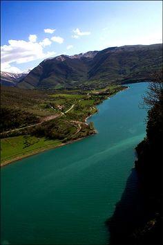 Lake Fiastra, Marche, Province of Macerata, Italy