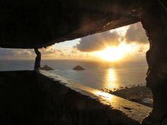 Pillbox Sunrise - Lanikai, Hawaii