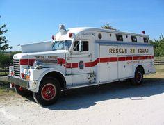 Chesapeake Antique Fire Apparatus Association  1964 Bruco Rescue Squad.