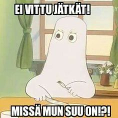 Vainmuumijutut Moomin Valley, Fandom Memes, Puns, Finland, Haha, Funny Pictures, Funny Memes, Geek Stuff, Family Guy