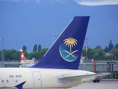 Saudia tail taken by me at Geneva International Airport.