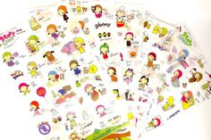 Items similar to Cute Kawaii 6 pcs set KOREAN cartoon STICKERS stationery scrapbook DIY cute riding hood girl story time on Etsy Cartoon Stickers, Cute Stickers, Korean Stickers, Hood Girls, Japanese Cartoon, More Cute, Smash Book, Diy Scrapbook, Story Time