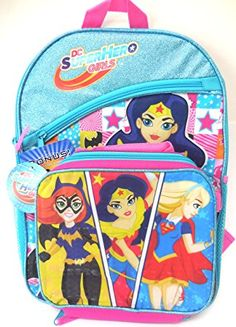 af693bc48afb DC Comics Super Girls Backpack with Lunch Bag - 2 PCS  brand new