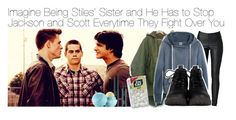 """Imagine Being Stiles' Sister and He Has to Stop Jackson and Scott Everytime They Fight Over You"" by fandomimagineshere ❤ liked on Polyvore featuring VILA, Madewell, FACE Stockholm and Eos"