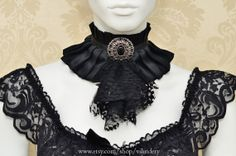 Gothic Victorian Choker Necklace Black Lolita Vampire by Vilindery, $27.00