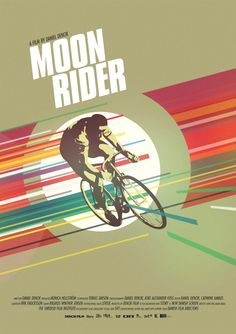 Moon Rider - bicycle poster
