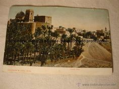 TARJETA POSTAL FOTOGRAFICA ORIGINAL ELCHE HUERTO BAJO CIRCULADA SELLO MATASELLO AÑO 1906