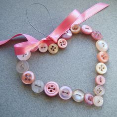 This would be a fun idea for ornaments or to hang on a door for Valentines.