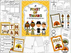 $ A Feast of Thanks, Thanksgiving Mini Unit: K-3