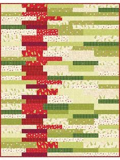 New Quilt Patterns - Sedimentary Christmas Quilt Kit - x Jellyroll Quilts, Scrappy Quilts, Easy Quilts, Quilting Designs, Quilting Projects, Quilting Ideas, Colchas Quilt, Christmas Sewing, Christmas Quilting