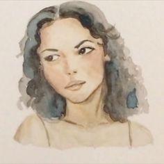 Watercolor Portraits, Study, Disney Princess, Random, Artist, Pictures, Instagram, Photos, Studio