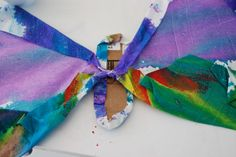 Watercolor Butterfly Wings Art