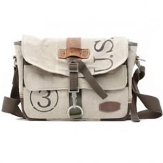 Love these upcycled messenger bags that are pieced together from all types of vintage goodness....