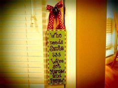 Christmas door hanger! Hand- painted $10