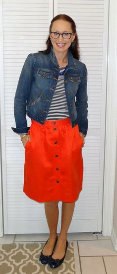 Egyptomaniac the Shopping Maniac: OOTD: 4/25/12 -J Crew Button Front Linen Skirt
