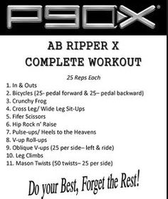 this is the P90X Ab ripper X workout