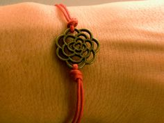 Lotus Flower Bracelet Lotus Flower Charm by CraftsbyBrittany, $4.50
