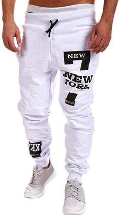 Hip Hop Streetwear Men Letters Print Sportwear Baggy Casual Male Tracksuit Trousers Black Pants Sweatpants Plus Size Mens Jogger Pants, Men Trousers, Mens Sweatpants, Men Pants, Fashion Sweatpants, Cotton Sweatpants, Jogger Sweatpants, Trouser Pants, Mens Compression Pants