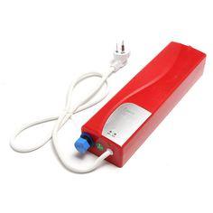 タンクレス給湯器電気シャワー温水システムでledライトセキュリティ熱カットアウトメモリ機能3000ワット22ボルト