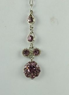 Silver Tone Purple Rhinestone Costume Jewelry Indian Bridal Forehead Tikka | eBay