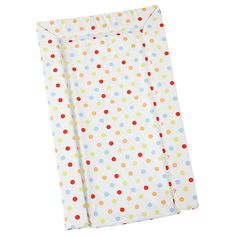 John Lewis Multi Spot Changing Mat, Lime/Red/Brown